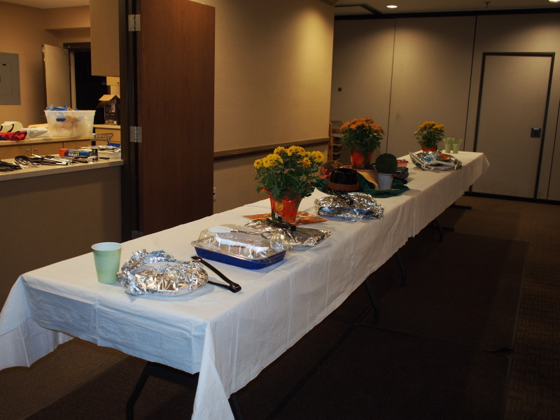 Main food table